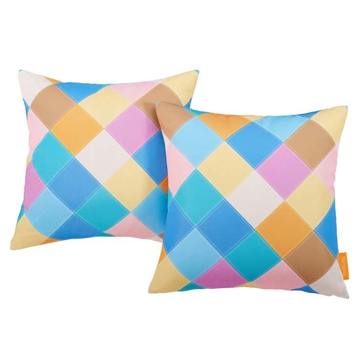 "Diamond 2 Piece Outdoor Pillow Set 17"" x 17"""