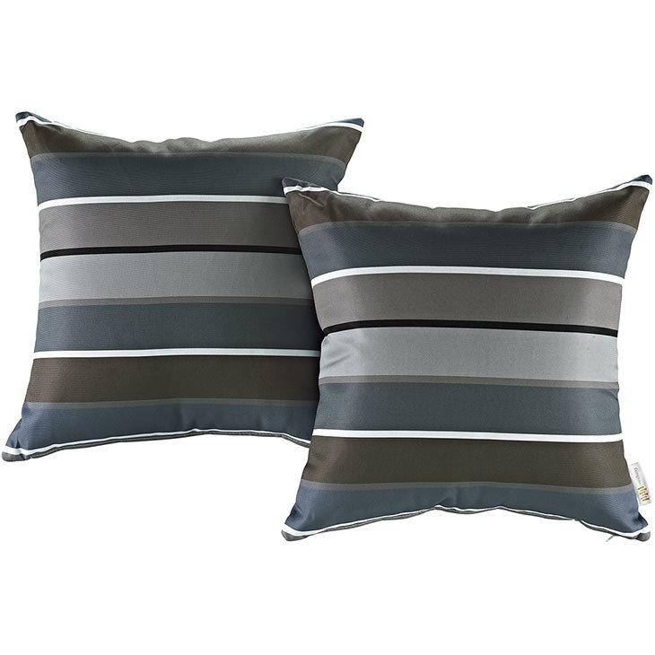 """Stripe 2 Piece Outdoor Pillow Set 17"""" x 17"""""""