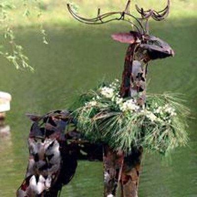Iron Deer Sculpture
