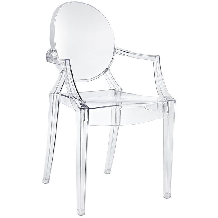 Crystal Dining Arm Chair | 8 Color Options