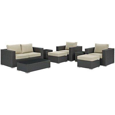 Soho Patio 8 Piece Conversation Set with Sunbrella® Cushion