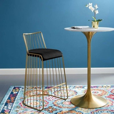 Riva Gold Stainless Steel  Bar Stool / 2 Colors