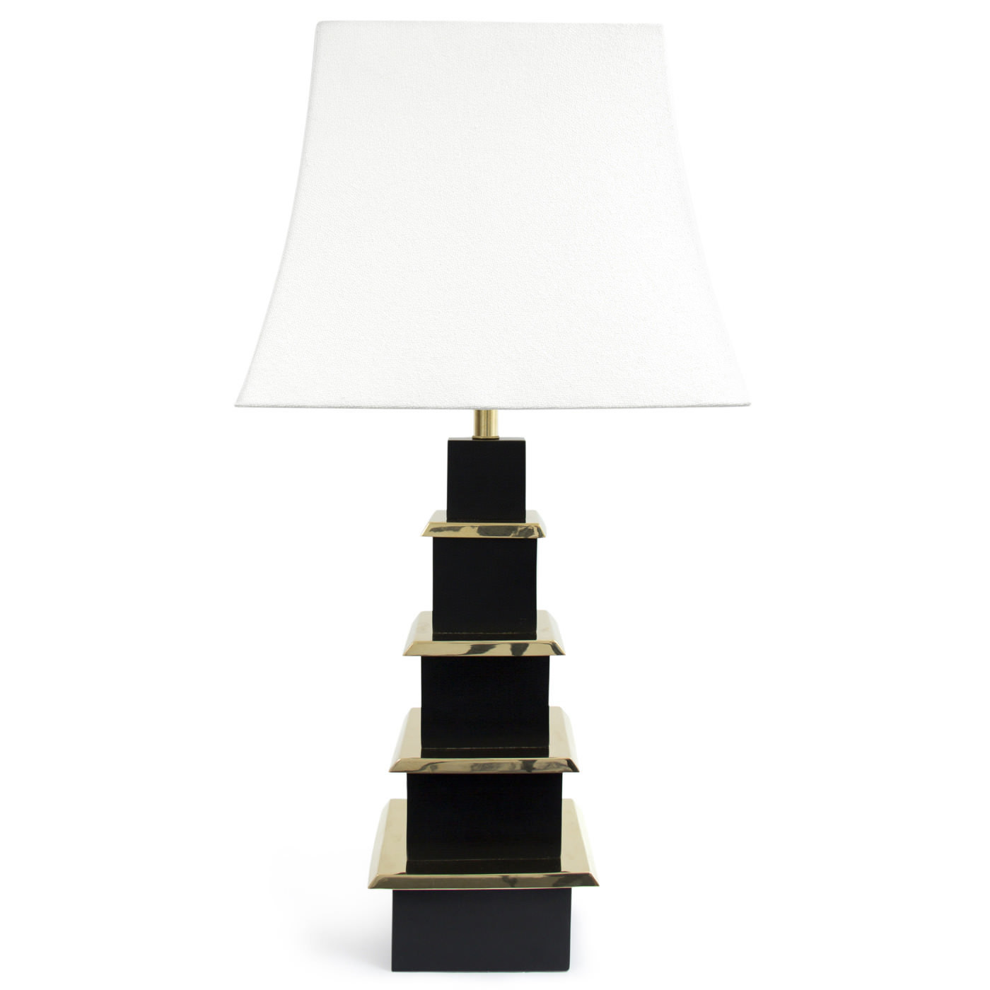 Pagoda Table Lamp Black or White