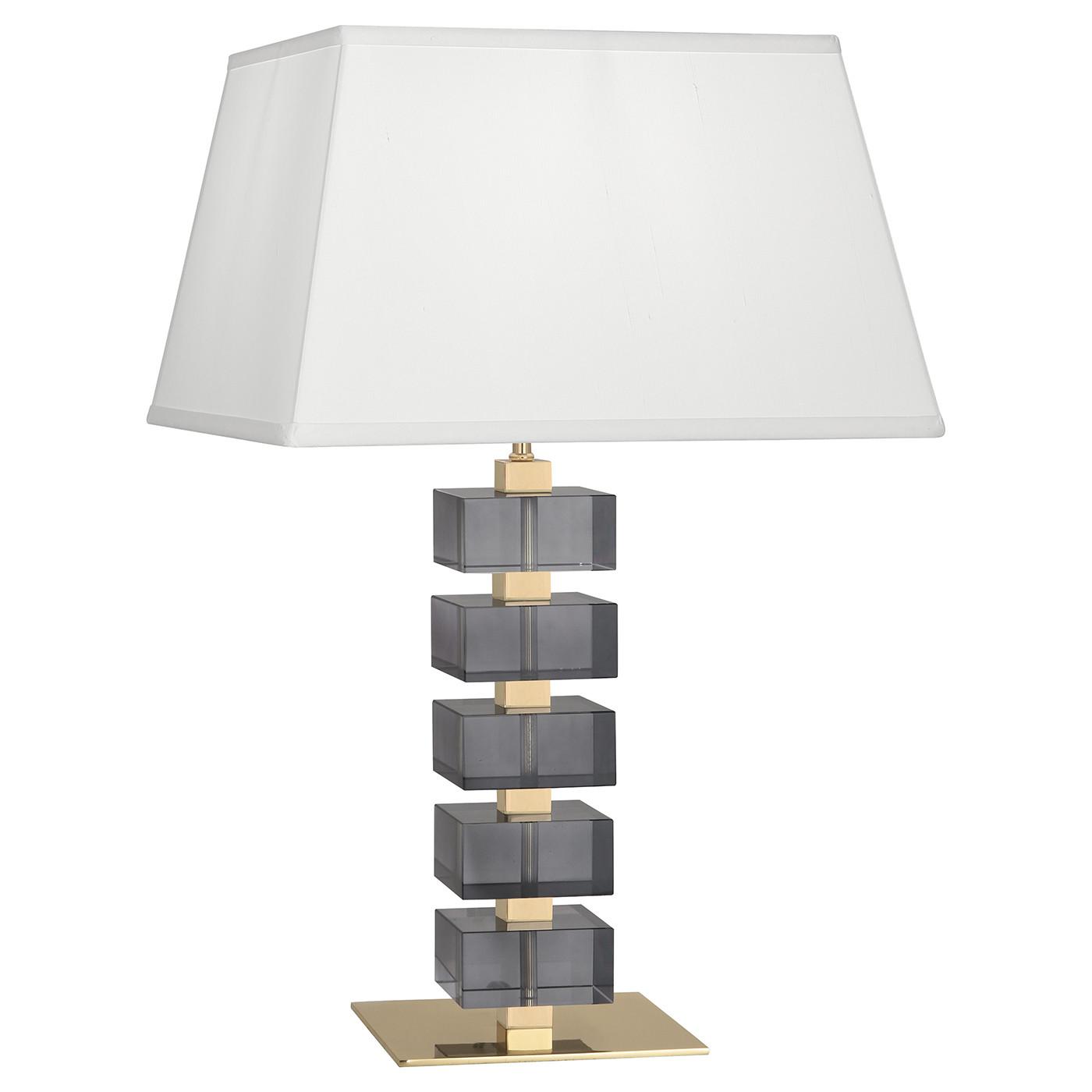 Monaco Crystal Table Lamp | Smoke