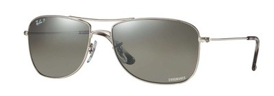 Ray Ban 3543 Silver Mirror Chromance Polarized