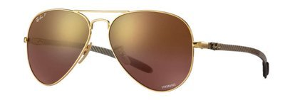 Ray Ban 8317 Chromance Gold Purple Mirror