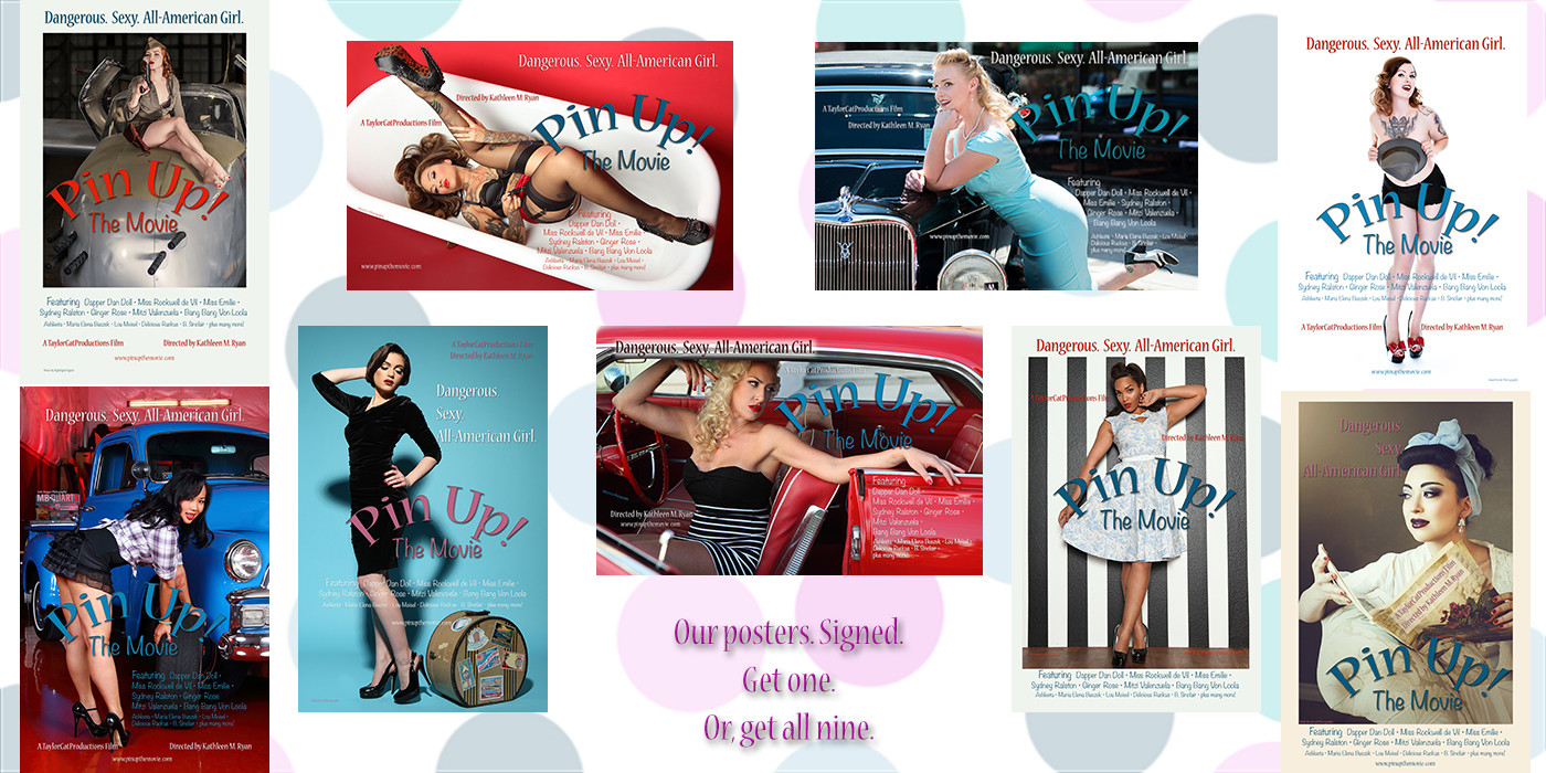 Pin Up Posters Benefit: Set of 3, 4, 6, or 9