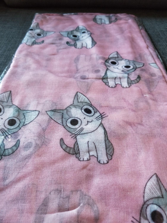 Pink cat scarf
