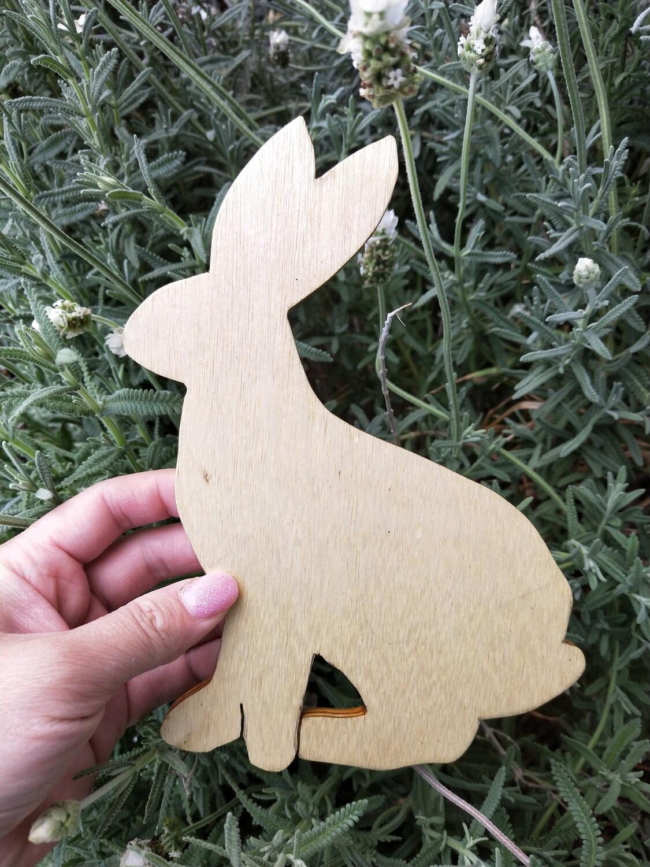 Wooden bunny - handmade