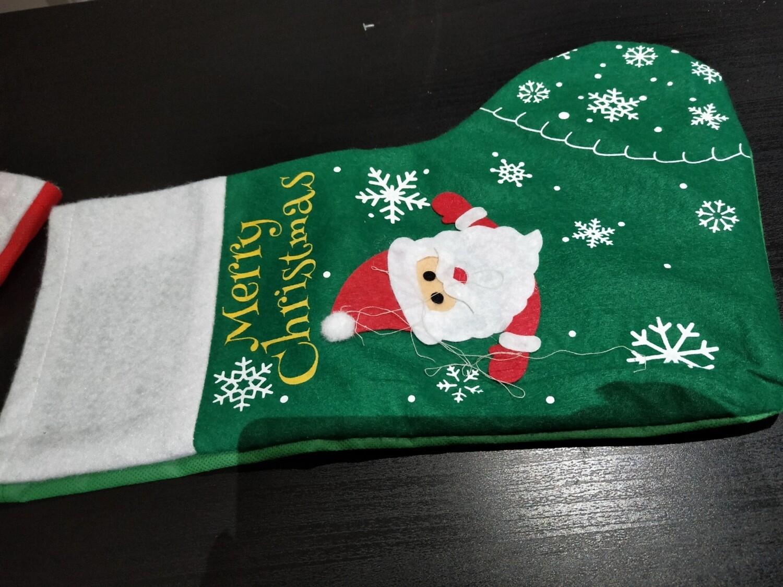 Green Santa Stocking - Large