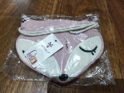 Pink fox pouch