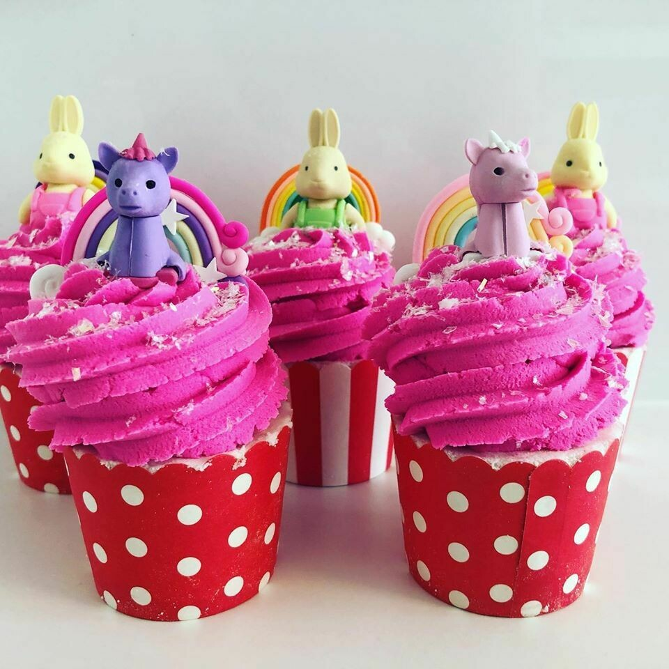 Cookie Moo Bath Bomb Cupcakes - Bunny/Cat/Unicorn/Guinea Pig
