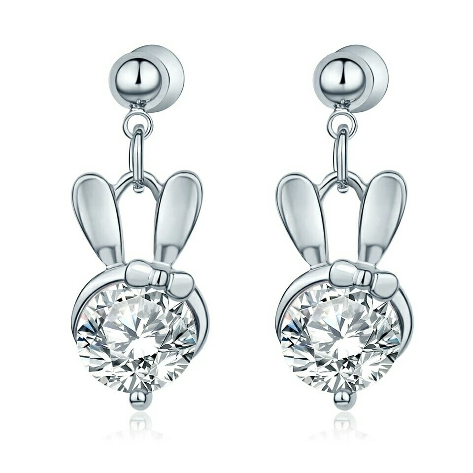 Bunny Earring - silver color