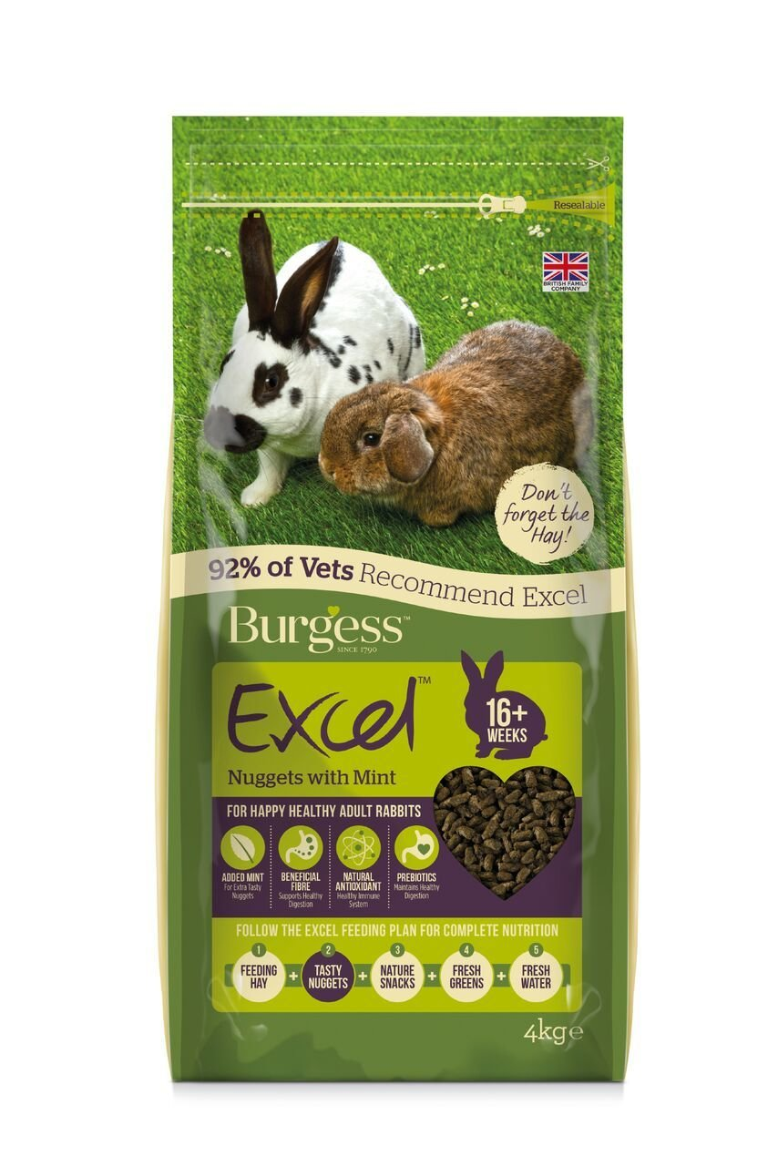 Burgess Mint For Rabbits - 2 KG bags