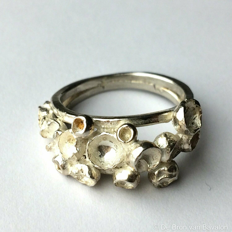 Ring in massief zilver - Maat55