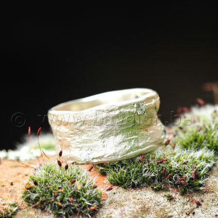Ring in massief zilver m/6 zirkonium briljant- Ralf De Burchgrave (België) - Maat60