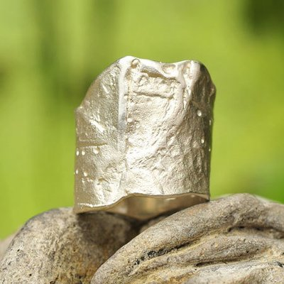 Ring in massief zilver - Ralf De Burchgrave (België) - Maat54