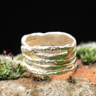Ring in massief zilver 'ajouré' - Ralf De Burchgrave (België) - Maat59