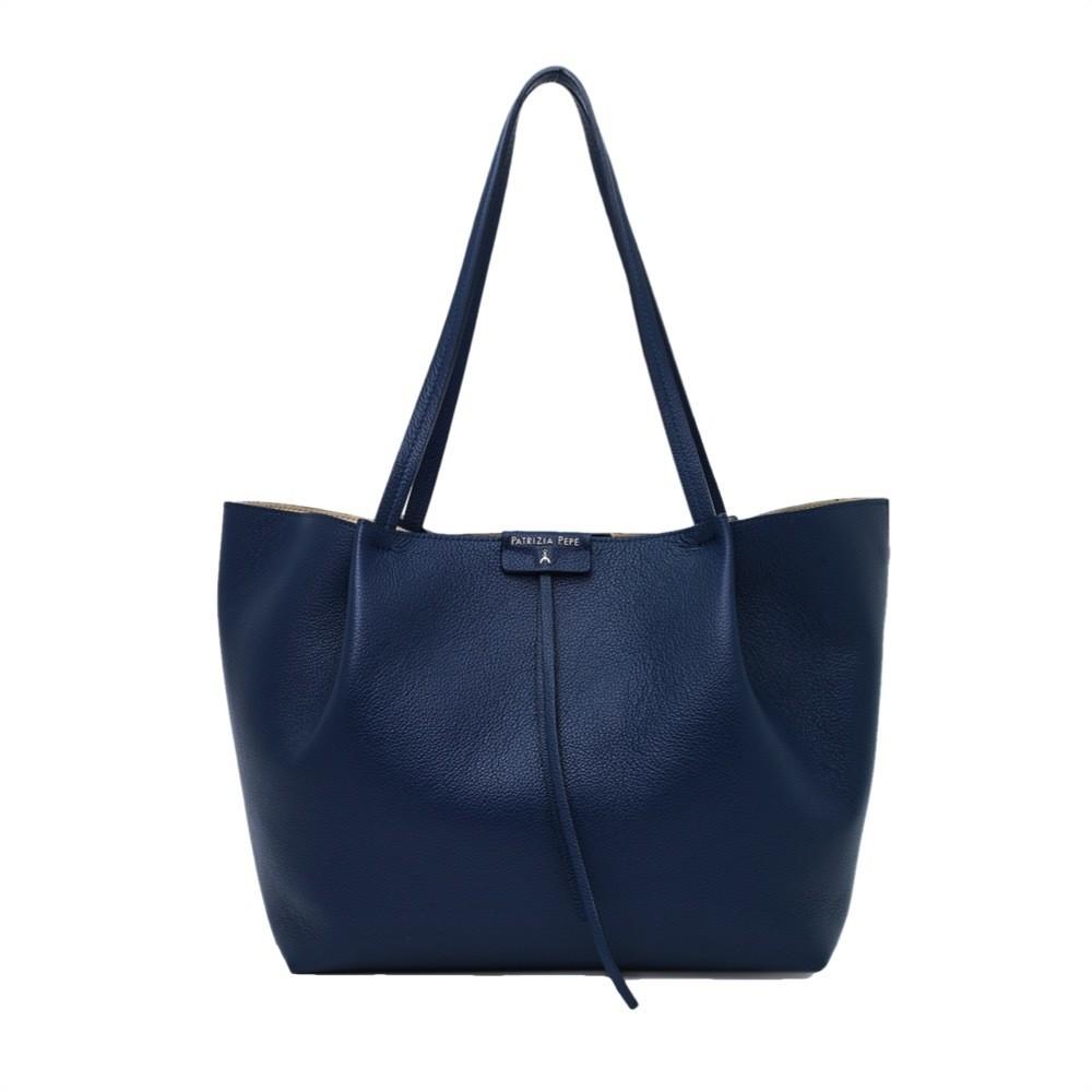 PATRIZIA PEPE - Borsa Shopping grande - Dress Blue