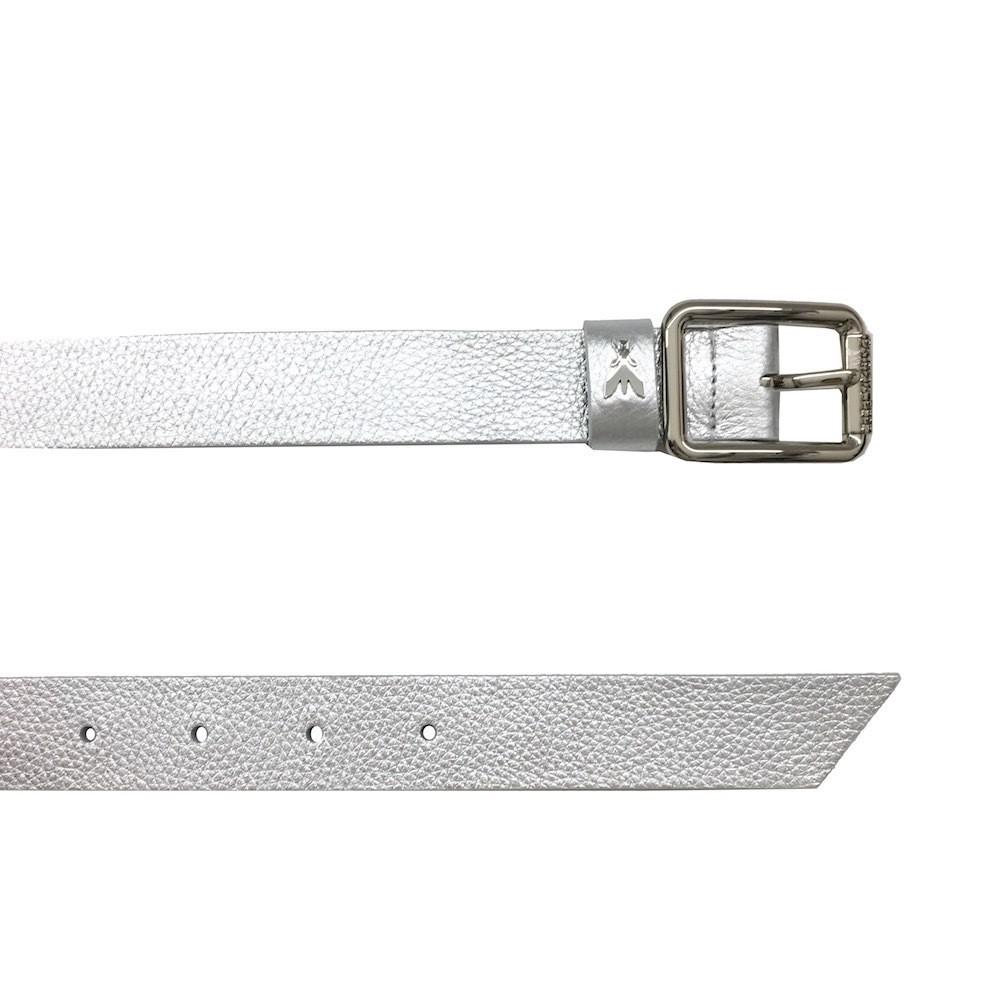 PATRIZIA PEPE - Cintura vita bassa in pelle - Silver