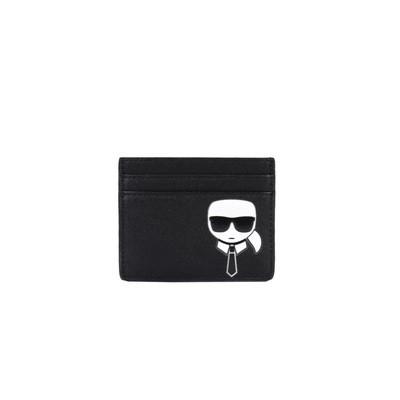 KARL LAGERFELD - K/Ikonik Cardholder - Black
