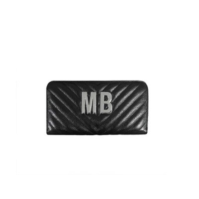 MIA BAG - Portafoglio grande Personalizzabile - Nero con finiture ARGENTO