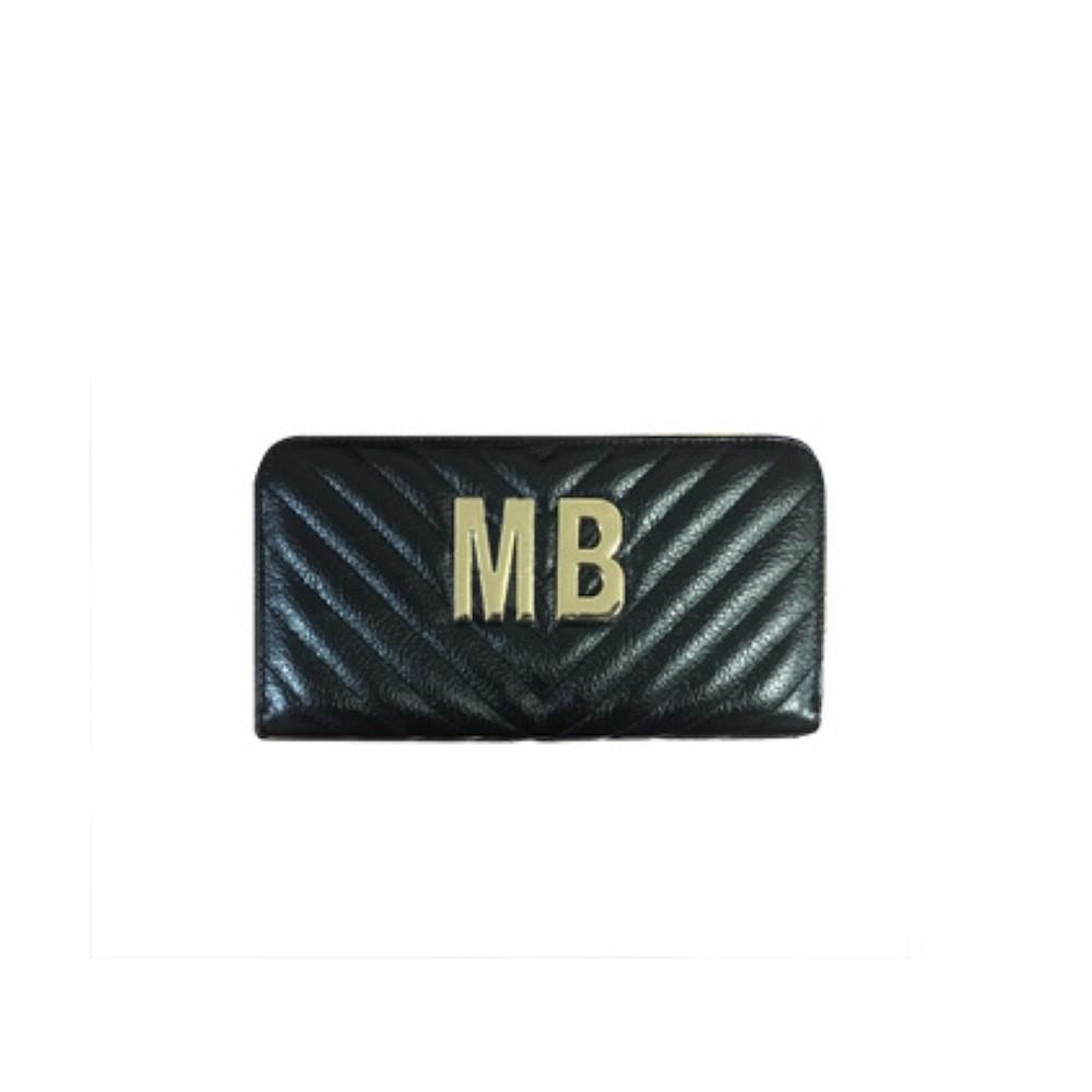MIA BAG - Portafoglio grande Personalizzabile - Nero con finiture ORO