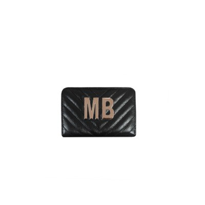MIA BAG - Portafoglio piccolo Personalizzabile - Nero con finiture ORO