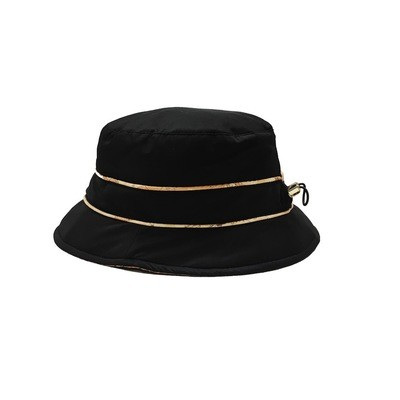 ALVIERO MARTINI - Cloche nylon c/coulisse - Black