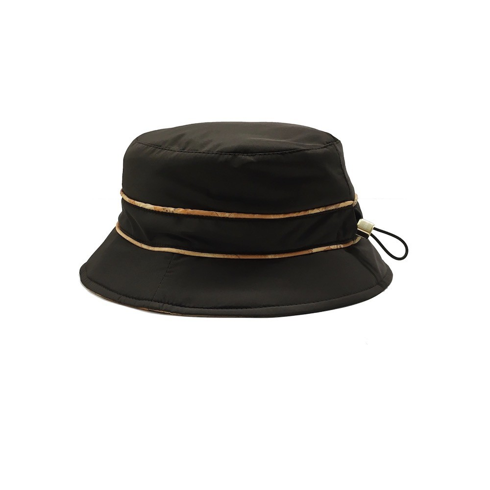 ALVIERO MARTINI - Cloche nylon c/coulisse - Dark Brown