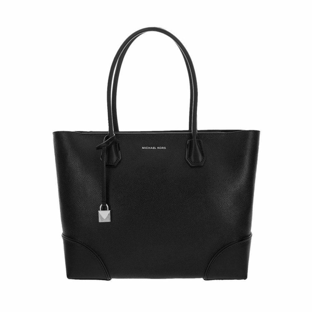 MICHAEL KORS - Shopping Mercer Gallery Grande in pelle - Black