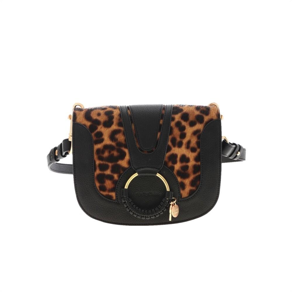 SEE BY CHLOÉ - Hana Animalier Small Crossbody Bag - Black