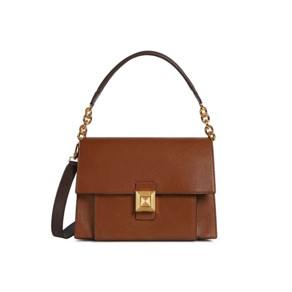FURLA - Diva M Shoulder Bag - Nocciola