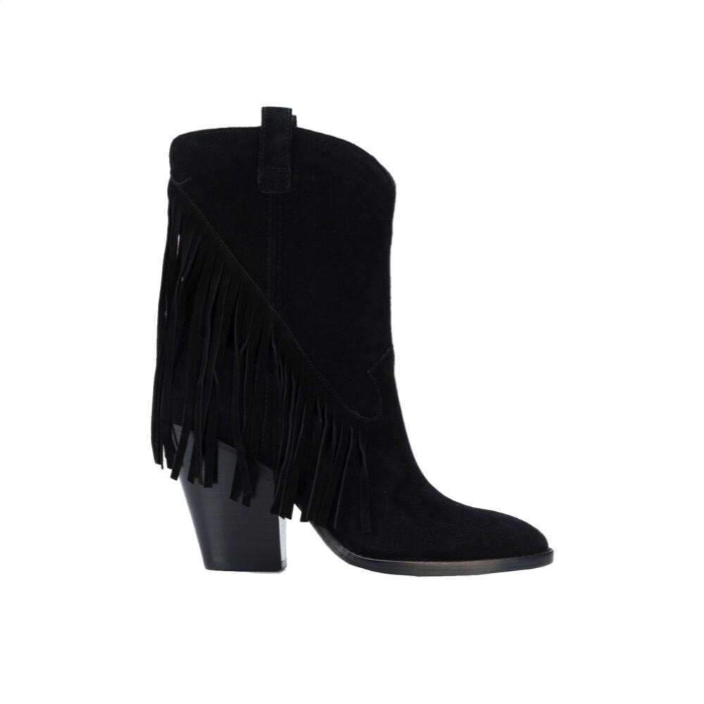 ASH - Elison Bis stivali con frange - Black