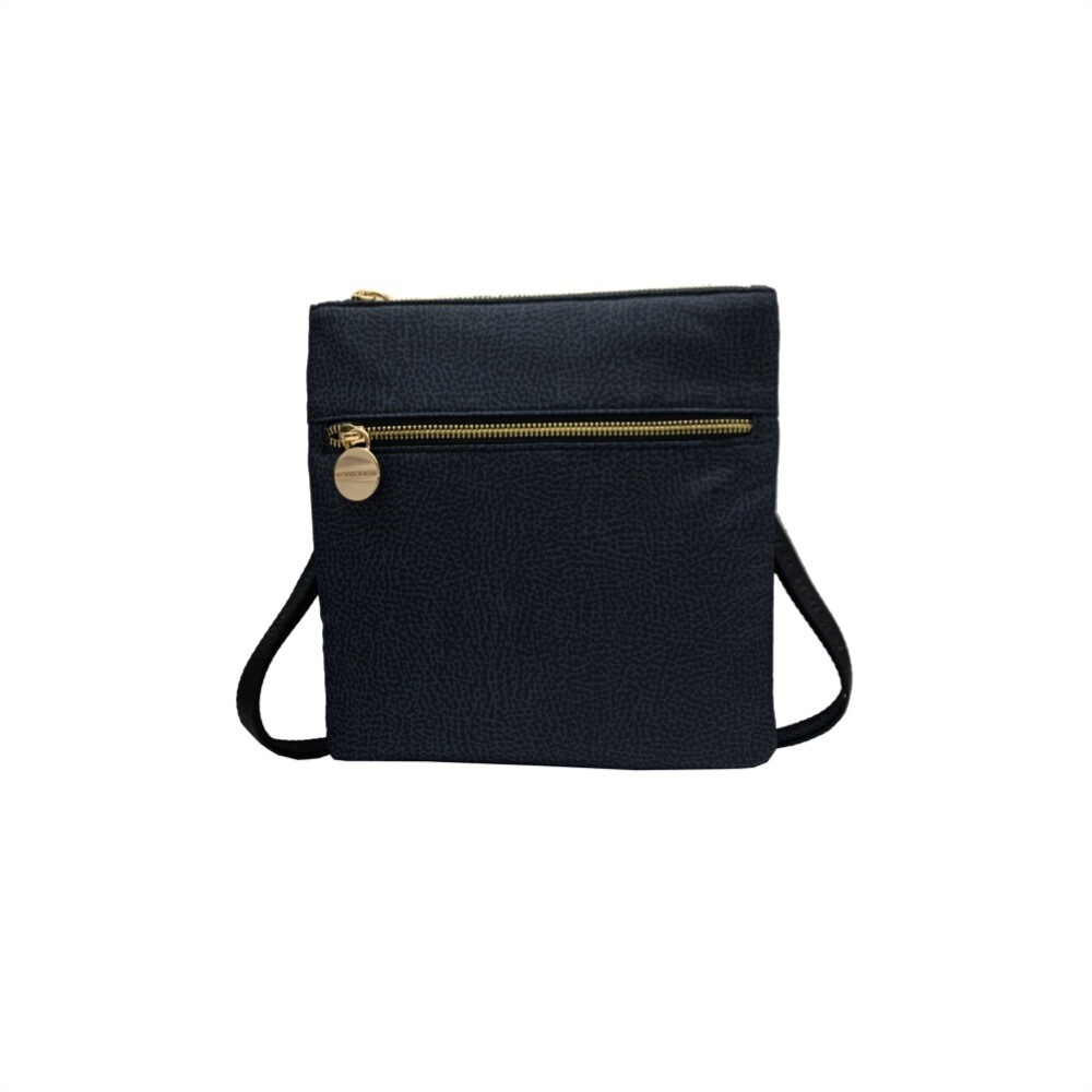 BORBONESE - Borsa tracolla Small in Jet OP - Black
