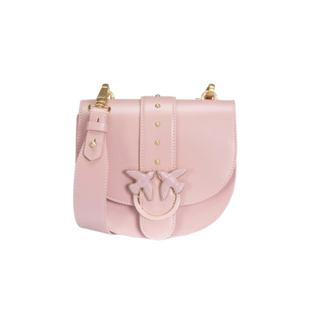 PINKO - Round Love Bag Simply in pelle - Light Pink