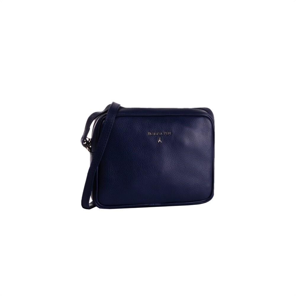 PATRIZIA PEPE - Camera Bag in pelle - Dress Blue