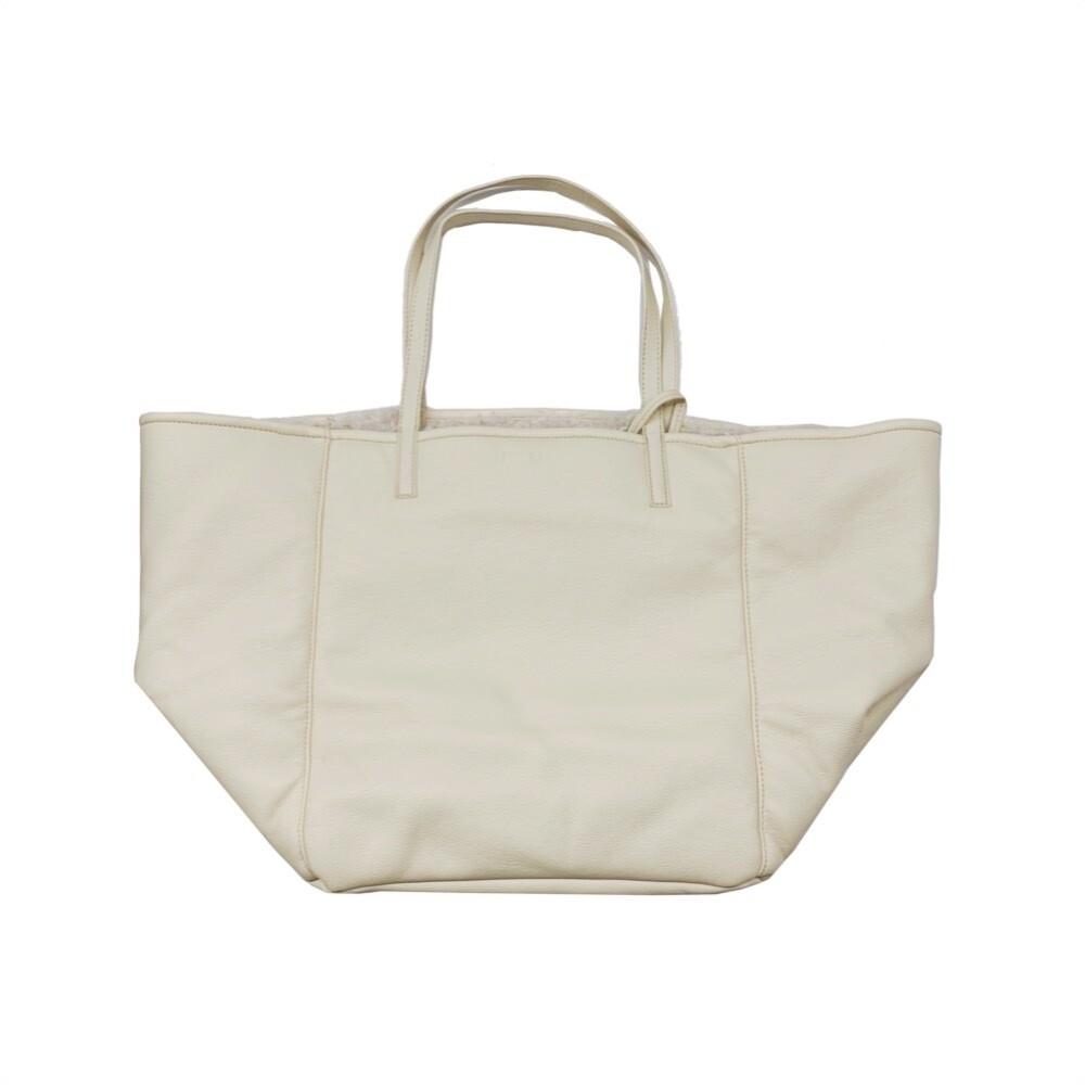 MIA BAG - Shopping Grande Ecopelliccia Reversibile Personalizzabile - Avorio