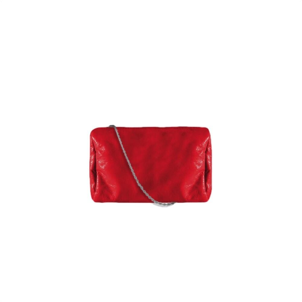 MIA BAG - Tracollina Patent Naplack Personalizzabile - Rosso