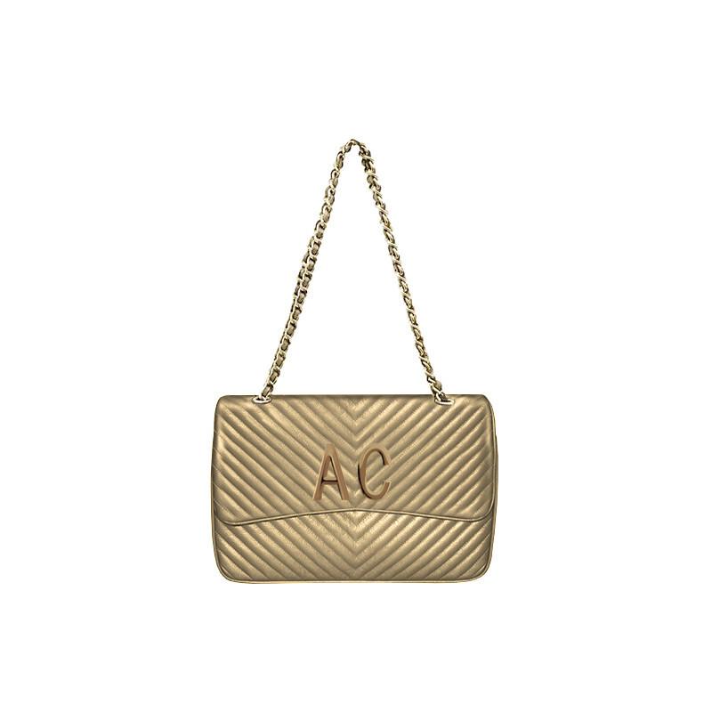 MIA BAG - Tracolla grande (misura CLASSICA) Personalizzabile - Oro con finiture ORO