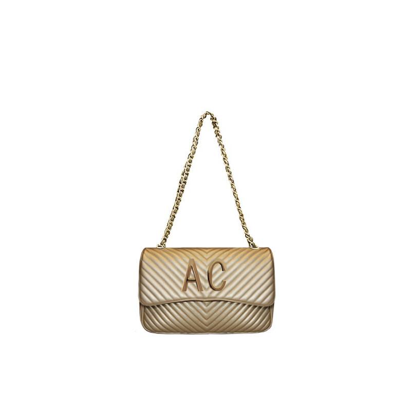 MIA BAG - Tracolla media Personalizzabile - Oro con finiture ORO