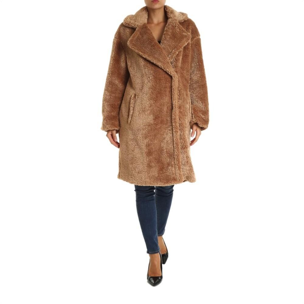 MICHAEL KORS - Teddy Bear Coat Ecopelliccia - Dark Camel