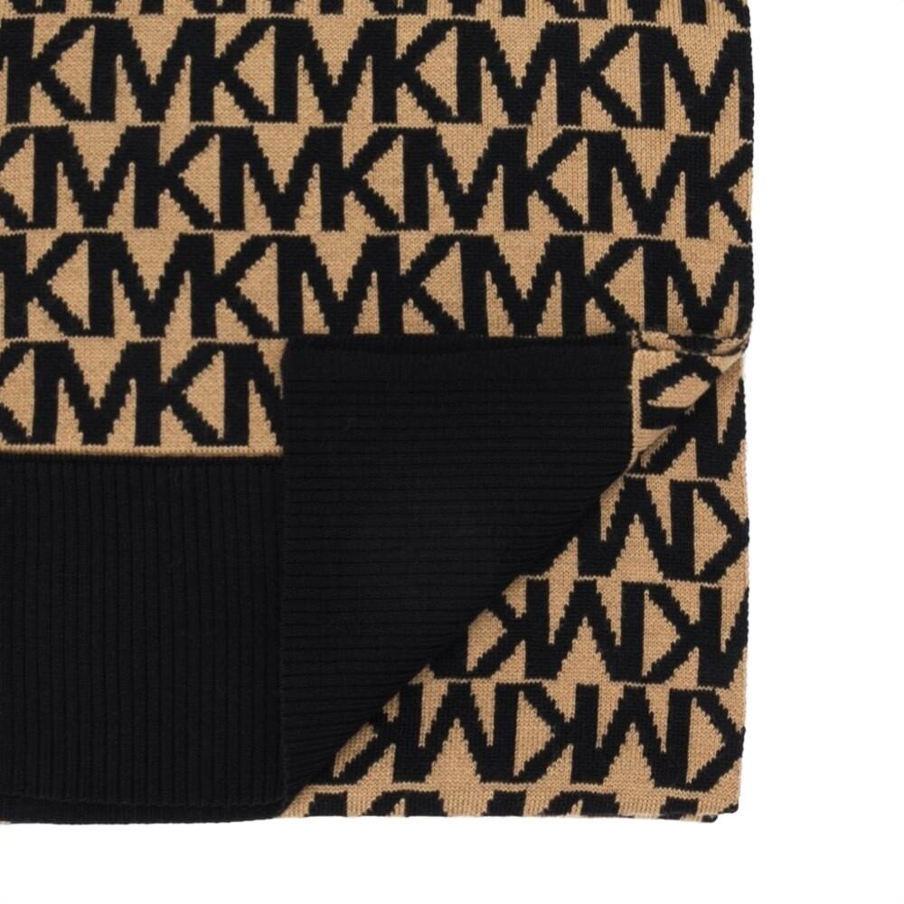 MICHAEL KORS - Sciarpa Logo - Dark Camel/Black