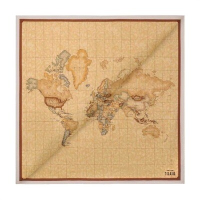 ALVIERO MARTINI - Foulard Geo Classic 90x90 - Cream Color