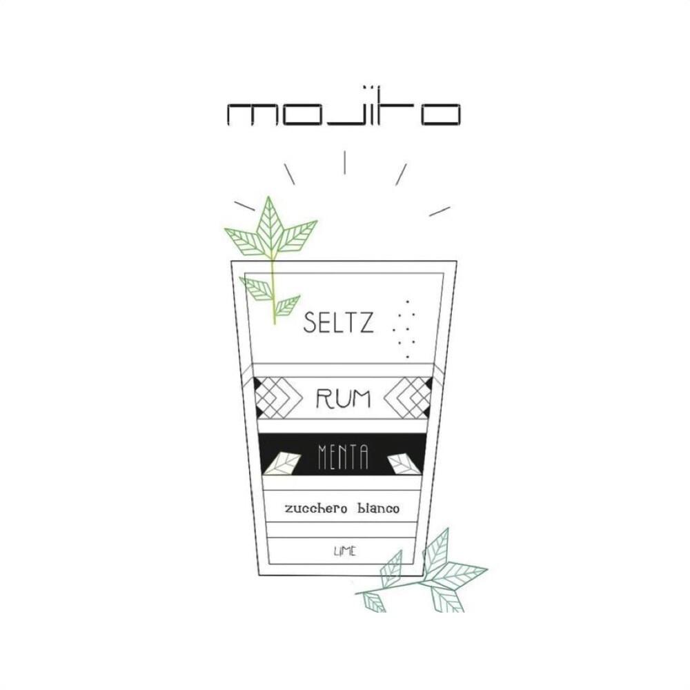 T-SHOT - T-shirt Mojito - White