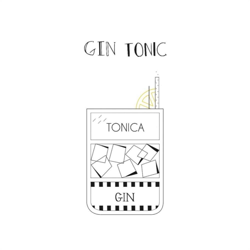 T-SHOT - T-shirt Gin Tonic - White