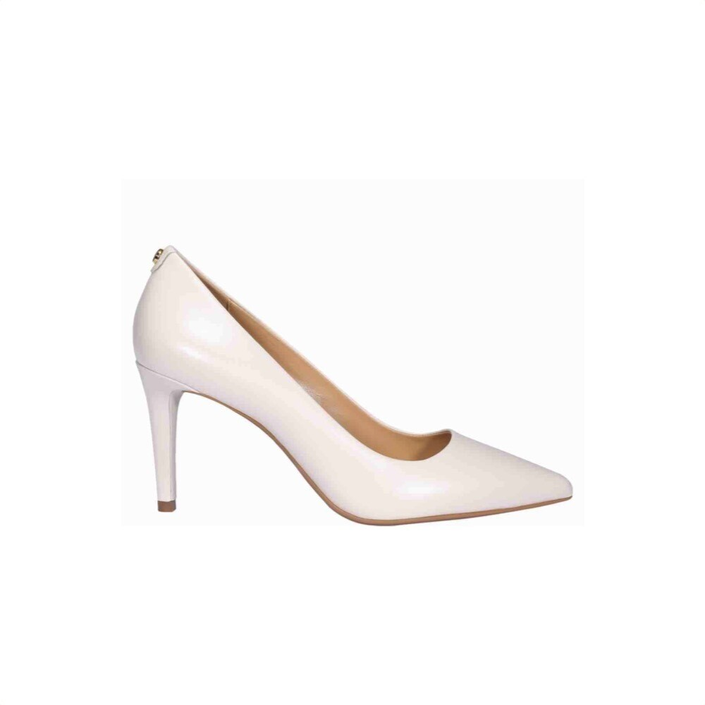 MICHAEL KORS - Dorothy Decollete in pelle - Light Cream