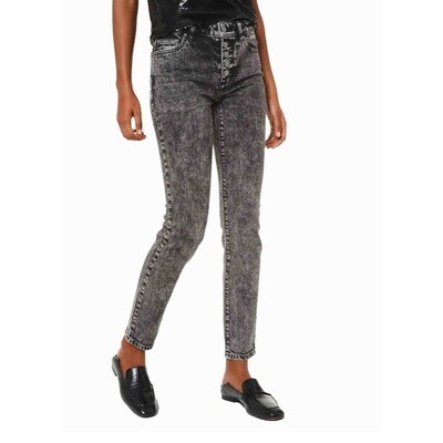 MICHAEL KORS - Jeans in cotone stretch a lavaggio acido - Black