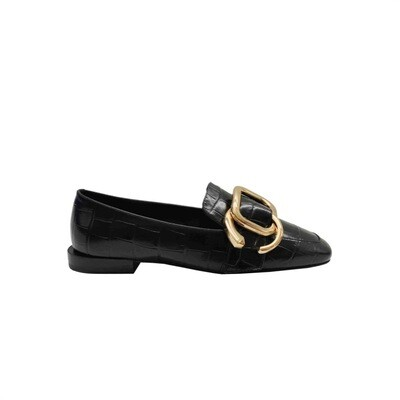 WHAT FOR - Shaka Mocassino stampa cocco - Black