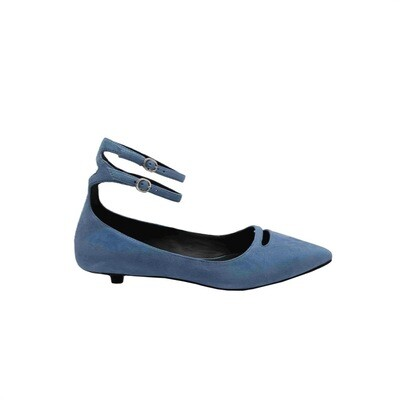 WHAT FOR - Phyllis Ballerina suede - Blue Jeans